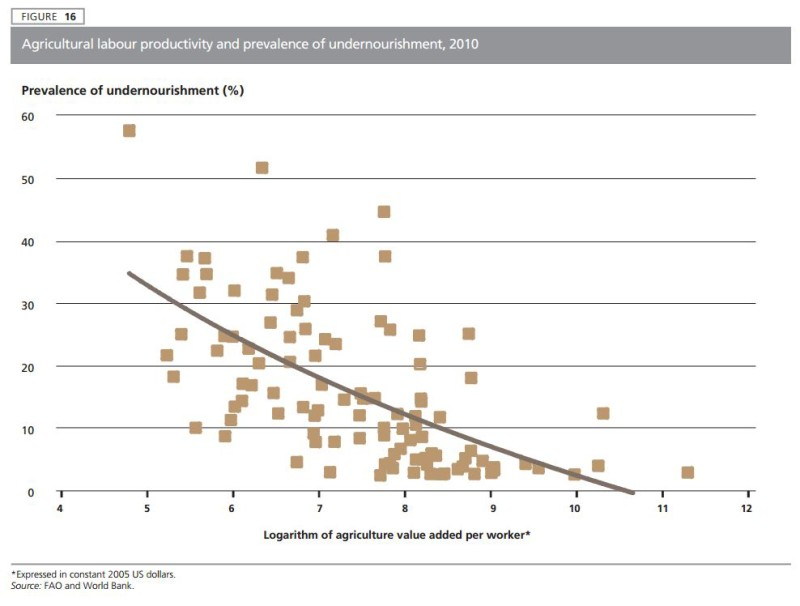 Hunger vs Labor Productivity - FAO Status of Food Insecurity 2015